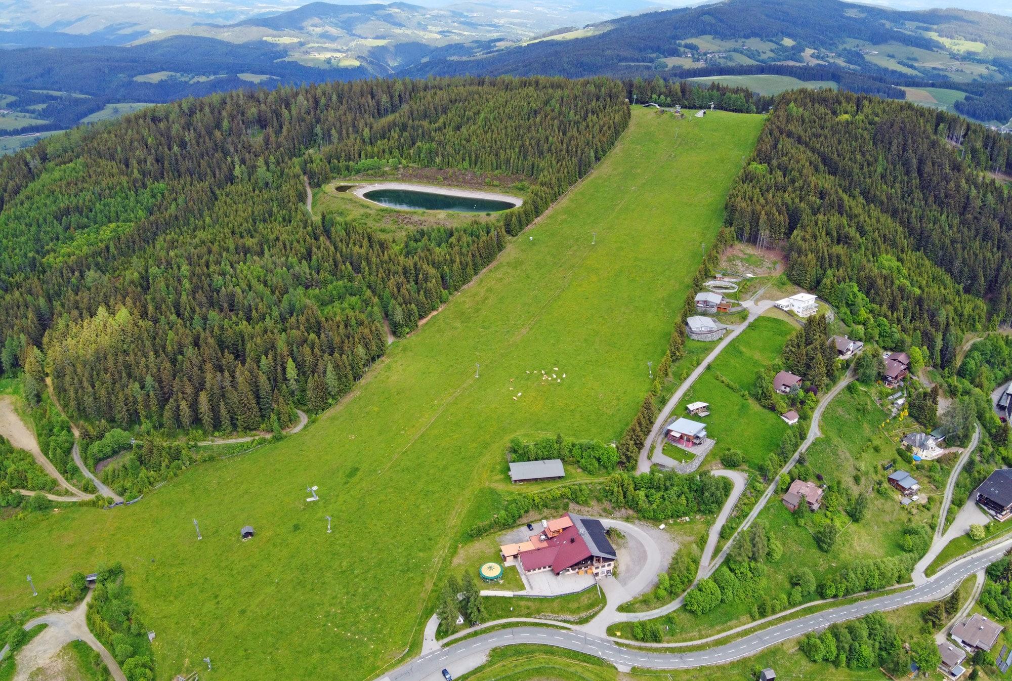 Ein Luftbild von der Simonhöhe