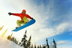 Snowboarder auf der Simonhöhe
